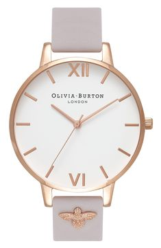 af315f5e7 OLIVIA BURTON 3D Bee Leather Strap Watch, 38mm available at #Nordstrom  Michael Kors Watch