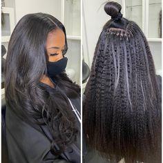 Sew In Weave Hairstyles, Mommy Hairstyles, Braids Hairstyles Pictures, Pretty Hairstyles, Wig Hairstyles, Straight Hairstyles, Dyed Natural Hair, Natural Hair Styles, Black Hair Extensions