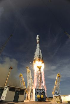 Soyuz VS03 liftoff  12 October 2012: Soyuz lifts off for the third time from Europe's Spaceport in French Guiana on its mission to place the second pair of Galileo In-Orbit Validation satellites into orbit.