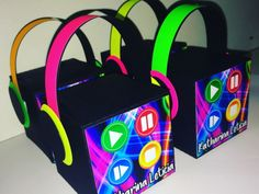 Birthday Bash, Birthday Parties, Happy Birthday, Ben E Holly, Neon Party, Ideas Para Fiestas, Just Dance, Favor Boxes, Sleepover