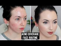 FULL COVERAGE Long Lasting Current Foundation Routine   Acne Coverage & Pale Skin Makeup - YouTube