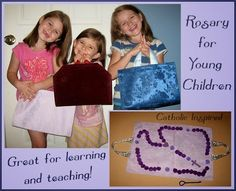 Soft Rosary for Young Children {Great way to learn to pray} - Catholic Inspired