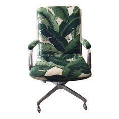 smitten with this jungalicious desk chair on Chairish.com #HOMEgirls