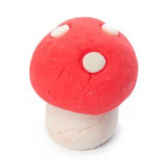Magic Mushroom from Lush. Creamy strawberry bath magic. So cute.