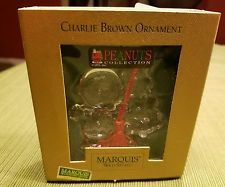 Waterford Crystal Marquis Peanuts Collection Charlie Brown...