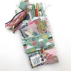 Pocket letter all ready to mailed. Pen Pal Letters, Pocket Letters, Scrapbooking, Scrapbook Paper Crafts, Paper Crafting, Snail Mail Flipbook, Secret Sister Gifts, Snail Mail Pen Pals, Pocket Envelopes
