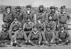 Enlisted pilots of the Tainan Kokutai pose at Lae in June 1942. Several of these aviators would be among the top Japanese aces, including Toshio Ōta (middle row, far left), Saburo Sakai (seated next to Ōta, second from the left) and Hiroyoshi Nishizawa (standing to the far left). These pilots fought against Allied fighter pilots during the Battle of Guadalcanal and the Solomon Islands campaign.