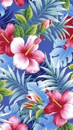 Flower Wallpaper, Iphone Wallpaper, Tropical, Wallpapers, Floral, Flowers, Plants, Painting, Art