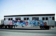 Freight Train Graffiti Around Brooklyn