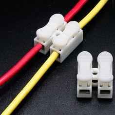 30pcs lot 2 Pins Electrical  Cable Connectors CH2 Quick Splice Lock Wire Terminals
