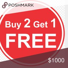 TODAY Buy 2 get 1 free JEANS PANTS & SHORTS ONLY Buy 2 get 1 free JEANS PANTS AND SHORTS ONLY.  Higher price prevails. You can bundle the three and set the offer yourself or tell me the three you would like and I can bundle it for you. Thank you so much. Happy shopping. Can not use extra 15 percent off 3 or more items with this offer. Pants