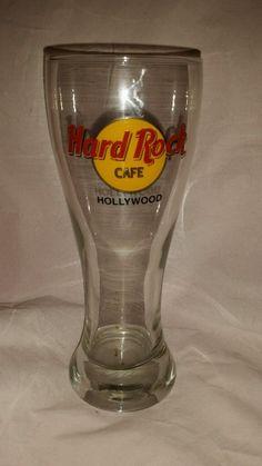 Hard Rock Cafe Pilsner Beer Glass Hollywood #HardRock #pilsner ebay seller jantom37
