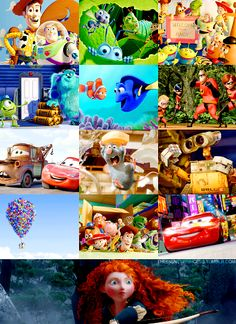 Day 13: Favorite Pixar/Disney movie.                  Once again, how can you choose?!  It's a tie between Toy Story, Up, and Brave
