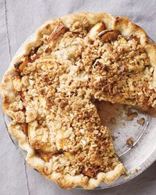 My very favorite Peach Crumble Pie - Martha Stewart Recipes - I made this so many times last summer and can't wait to make it again!
