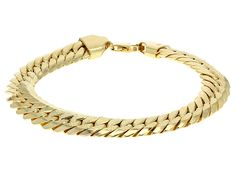 Splendido Oro(Tm) 14k Yellow Gold Herringbone Link 7 1/2 Inch Bracelet