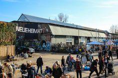 Die Neue Heimat Berlin auf dem RAW Gelände - Village Market mit Streetfood jeden Sonntag