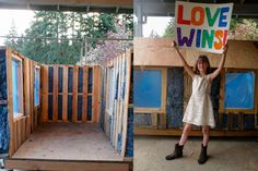 9-year-old girl builds tiny homes from scratch for the homeless, each complete with a windows, a lockable front door, recycled denim insulation, vinyl flooring, drywall, shingled roof, and a solar-powered lamp!