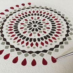 Work in progress. Red Mandala by C Calderas