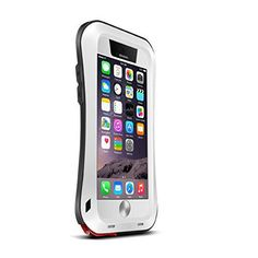 EK Newest Extreme Shockproof Waterproof Dust Dirt Snow Proof Armor Tank Aluminum Metal Gorilla Glass Military Heavy Duty Protector Cover Hard Case for 4.7 Inch Iphone6 iphone 6 VI (White) - http://www.mansboss.com/ek-newest-extreme-shockproof-waterproof-dust-dirt-snow-proof-armor-tank-aluminum-metal-gorilla-glass-military-heavy-duty-protector-cover-hard-case-for-4-7-inch-iphone6-iphone-6-vi-white/?utm_source=PN&utm_medium=http%3A%2F%2Fwww.pinterest.com%2Fpin%2F368450813235896