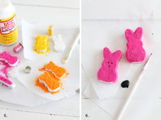 Peeps place card holders   #DIY Easter Decor from @Elyse Woodbury Pehrson Larson of A Beautiful Mess
