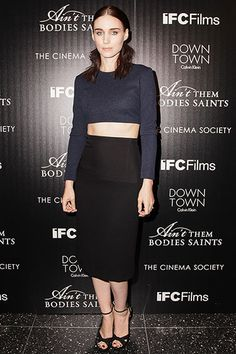 """The Cinema Society and Downtown Calvin Klein Host a Screening of """"Ain't Them Bodies Saints"""" - Rooney Mara in Calvin Klein Collection"""