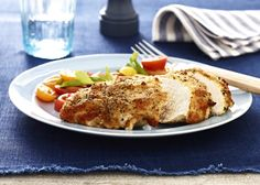 Parmesan Crusted Chicken Recipe http://www.yummly.com/recipe/Parmesan-crusted-chicken-300048