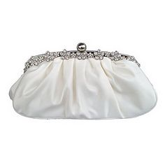 Women Bags Silk Evening Bag Crystal/ Rhinestone for Event/Party All Seasons Pink Dark Red Champagne Ivory Null