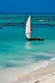 Nungwi Beach, Zanzibar - Fishing dhow