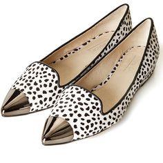 TOPSHOP KAP Metallic Toe Cap Point Shoes ($104) ❤ liked on Polyvore