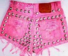 Studded Jeanshort