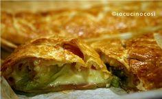 Rotolo di sfoglia mortadella formaggio e lattuga | Ricetta rustico salato