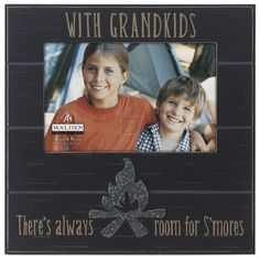 """Malden International Designs Sentiments """"Campfire Grandkids Distressed"""" Picture Frame, 4 by Brown ** You can get additional details at the image link. Family Picture Frames, Black Picture Frames, Distressed Picture Frames, Baby Keepsake, Black Bedding, Meaningful Words, Grandkids, Invitations, Cute"""