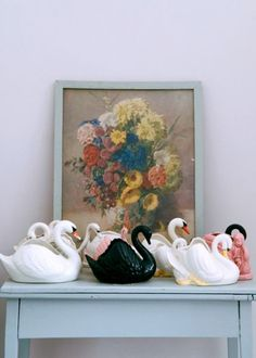 swans and flowers - LUV
