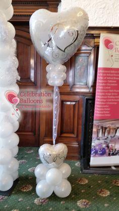 Wedding balloons from www.balloonsleeds.com Balloon Pictures, Celebration Balloons, Wedding Balloons, Wakefield, The Balloon, Leeds, Romantic, Create, Art