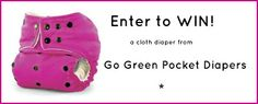 #simonefrance & #wishingpenny  Go Green Pocket Diaper review and giveaway