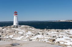 #PeggysCove, just a short drive from downtown #Halifax, looks beautiful with a light dusting of snow.
