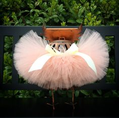 Infant Tutu Peach Tutu Baby Tutu Toddler Tutu by SundayBowtique