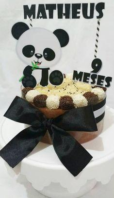 50 Ideias para Festa Panda Birthday Cake For Cat, Panda Birthday Party, Birthday Parties, Bolo Panda, Panda Baby Showers, Rapunzel, Yuri, Babyshower, Desserts