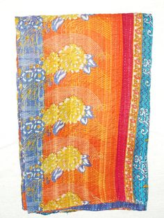 Indian Kantha Quilt Queen Kantha Throw Ralli Quilt by Ayatcreation, $41.99