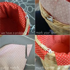 BASKET liner tutorial :) Just what I was looking for! It's gonna be ADORABLE!