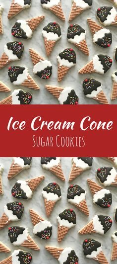 Ice Cream Cone Decorated Cookies - One Dozen #affiliate