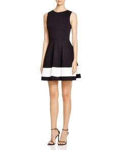 AQUA Color Block Dress | Bloomingdale's