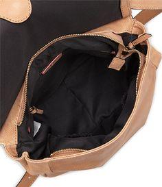 Almond:Elliott Lucca Lia City Leather Saddle Bag