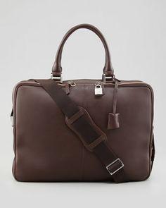 Trudeau Leather Laptop Bag, Brown by WANT Les Essentiels de la Vie at Neiman Marcus.