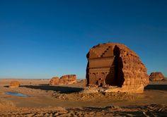 Qasr Farid Tomb in Madain Saleh - Saudi Arabia