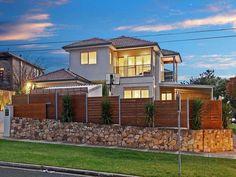 facade ideas with brick fence
