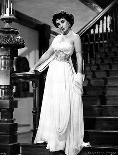 Elizabeth Taylor in a gorgeous creation by Edith Head