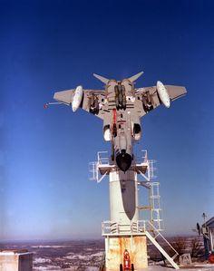 Newport Rome F-4 Phantom Mounted upside-down to test radar profile.
