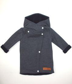 Płaszcz dziecięcy jesienny jeansowy - Bubalove - Ubranka dla dzieci Crazy Kids, Kids Patterns, Sewing For Kids, Handmade Baby, Kind Mode, Fabric Stamping, Nike Jacket, Kids Fashion, Raincoat