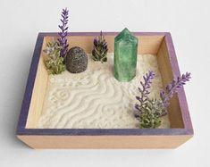 Your place to buy and sell all things handmade Miniature Zen Garden, Mini Zen Garden, Desk Zen Garden, Meditation Garden, Meditation Space, Small City Garden, Crystal Garden, Crystal Altar, Relaxation Gifts